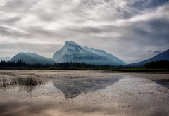 Mount Rundle and Vermilion Lakes (Aakash Gupta Photography) Tags: canada outdoor nationalpark banff clouds reflection mountains tree rockies calgary jasper