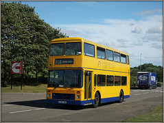 Late home from school......... (Jason 87030) Tags: leyland school olympian hunters northants royaloakway yellow mellow slag northamptonshire july 2017 sony alpha a6000 ilce return duties contract special doubledecker g729tbd geoff amos education kids children afternoon uk england color colour vehicle bus