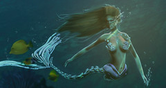 The secret od depth sea (zuzuna336) Tags: indieteepee event blogpost mesh secondlife mermaid tableau maitreya underwater