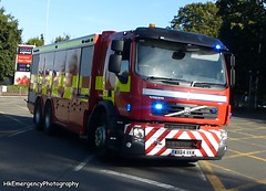 WX64 VKM (HkEmergencyPhotography) Tags: south wales fire rescue service volvo fll bulk foam water carrier responding whitchurch station blue lights siren emergency