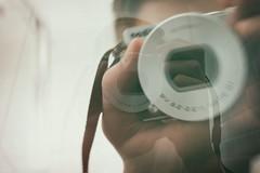 Self Portrait with Double Exposure (samward5) Tags: andreas feininger double exposure experimental self mirror nikon