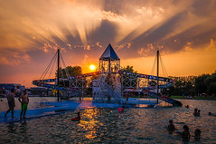 A sunset seen from the pool (VasiRed Bull 2013) Tags: travel tourism twilight time town people popular perpective moments magic natural beautiful background view vacation colors conection culture country city underground urban unreal world wonderful watchful waterfront