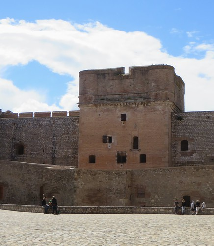 Le donjon, forteresse (XVe-XVIe), Salses, Corbières maritimes,   Roussillon, Occitanie, France.