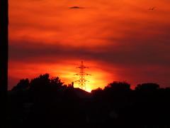 life cycle (auroradawn61) Tags: sunset pylon sooc orange hamworthy poole dorset uk england summer july 2017 lumixtz25 explored interestingness