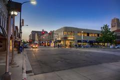 State Street (DJ Wolfman) Tags: statestreet annarbor annarbormi blue night lights street streetshots streetphotography streetphoto streetscene streets michiagn streetlights sidewalk sony universityofmichigan university rx10