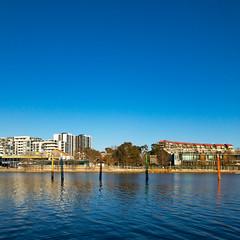 Bollards on Lake Ginninderra (garydlum) Tags: lakeginninderra belconnen australiancapitalterritory australia au
