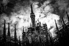 L1001570A (Bruno Meyer Photography) Tags: 75mm summicron milano milan duomomilano piazzaduomo duomo architecture skyline sculture history renaissance clouds sky pornsky travel travelphotography italia iloveitalia lombardia photography raw edit blackandwhite bw blackandwhitephotography leica leicaimages leicacamera leicam240 leicam leicacamerafrance leicaworld leicalens roadtrip discover