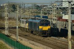 92033 90044 bb Barby Nortoft 200117 D Wetherall (MrDeltic15) Tags: gbrailfreight class92 caledonian 92033 0z92 90044 freightliner class90 barbynortoft wcml dirft