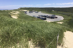 Plenty of Room (brucetopher) Tags: beach dune sanddunes grass beachgrass green sand sandy sea seashore coastal seacoast coast hill hills summer sun sunshine vacation holiday nationalparks park car cars parkinglot parking lot space spaces above lookingdown viewfromabove fromabove path trail hike