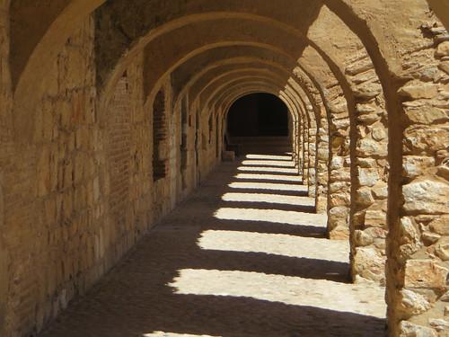 Arcades, forteresse (XVe-XVIe), Salses, Corbières maritimes,   Roussillon, Occitanie, France.