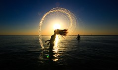 Mermaid (Lior. L) Tags: mermaid silhouette sea sunset sky art flare light shadows action hairflip water waterdrops telaviv telavivbeach israel