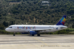 Small Planet A320 ~ LT-SPD (© Freddie) Tags: skiathos thessaly sporades aegean greece smallplanet airbus a320 jsi lgsk ©freddie fjroll ltspd