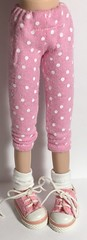 Pink And White Dots...Leggings For Blythe...