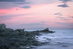 Soft Evening (castier) Tags: charlevoix coucherdesoleil evening fleuve isleauxcoudres pink river rocher rock rose soir sunset lisleauxcoudres québec canada ca
