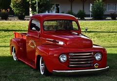 1949 Ford F-1 Pickup Truck (Custom_Cab) Tags: 1949 ford f1 f47 pickup truck pick up red hillside garage 1948 1950