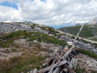 Barbed wire on Monte Piana