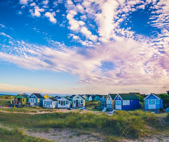 Hengistbury head (DST-photography) Tags: sunset sunrise skyglory goldenhour england uk bournemouth boscombe pier beach beachouse house colour blue green saturation clouds