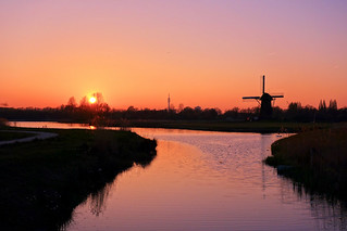 Weather and sunset scenery, dutch style