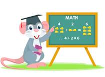 Rabbit Character Teaching Math With Cheese Counting Clipart (scienceandtechnologysu) Tags: blackboard cartoon chalk classroom clipart education elementary illustration kid learn math school teacher vector