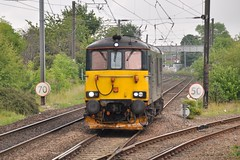 73966 at Morpeth (stephen.lewins (1,000 000 UP !)) Tags: class73 73966 morpeth northumberland railways ecml caledonian
