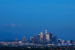 city in blue (Andy Kennelly) Tags: city blue los angeles lights skyline downtown la