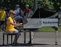 Please Play Me Piano (swong95765) Tags: piano public invitation boy kid music park