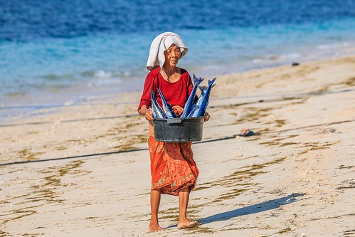 Fisherman's Wife with Barracudas