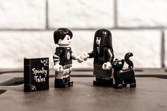 Spooky Lovers (Yoann!) Tags: spooky lovers halloween lego legography afol noir et blanc black and white noiretblanc blackandwhite bw nb minifigs minifigurine minifigure minifigures minifigurines minifig figurine toys toy chat cat tales amoureux horreur horror gothic
