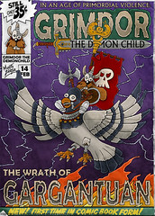 Wrath of Gargantuan (MightyZandor) Tags: illustration concept cover cartoon comic webcomic fantasy adventure sword sorcery pigeon rabbit warrior