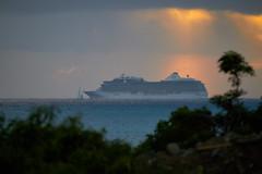 Oacean Liner at Sunset (ronmcmanus1) Tags: antigua boat outdoors sunsetsunrise waterwaterfront jollyharbour stmarysparish antiguabarbuda