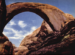 Rainbow Bridge, Utah, by Carl Junghans for Arizona Highways, June 1947 (Tom Simpson) Tags: vintage 1947 1940s rainbowbridge sandstone utah landscape rainbowbridgenationalmonument nationalpark