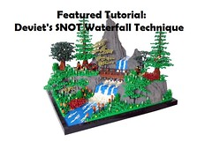 New Featured Tutorial! (soccersnyderi) Tags: lego waterfall technique tutorial guide design method