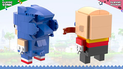 BrickHeadz: Sonic & Dr. Eggman (Back) (Unijob Lindo) Tags: lego leg godt bricks brickheadz brick heads brickheads sonic sega hedgehog dr eggman doctor robotnik ivo egg man walrus genesis mega drive saturn dreamcast service games videogames game green hill generations mania igel toys render blender mecabricks digital designer rendering classic 90s collectible collectibles funko pop funkopop klocki stein moustache shoes blue spikes slope curved tan mustache goggles glasses bald scientist human villain nose baldy mcnosehair lost world