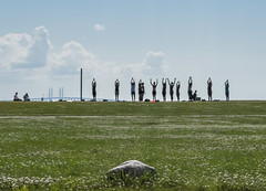 Sun Salutation (Ghita Katz Olsen) Tags: amagerstrand yoga silhouettes bridge denmark sunsalutation