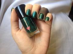 Azuldite (Quem Disse, Berenice?) (Daniela nailwear) Tags: azuldite quemdisseberenice qdb verde esmaltes mãofeita shimmer