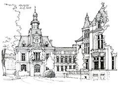 Malmedy (gerard michel) Tags: belgium liège malmedy architecture sketch croquis