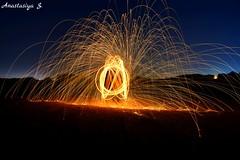 Newbie. First time exposure. Nikon 7200D, 30sec exposure, F6 (anastasiyaspassky) Tags: exposure night newbie nikon steelwool fire