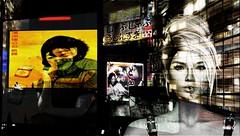 Ghosts... (tralala.loordes) Tags: ashemi secondlife virtualreality tralalaloordes asian smoking blond neon tokyo ghosts memories time genesislabbento exile coffeetime