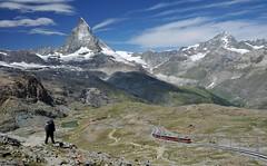 Zermatt - Matterhorn and Gornergratbahn (Libor59) Tags: schweiz switzerland zermatt gornegrat matterhorn mountains sky landscape train railway