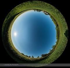 Sky Polarization Panorama (Amazing Sky Photography) Tags: 360° 90° quartermoon waningmoon allsky atmospheric band blue clear day demonstration panorama polarization polarized sky