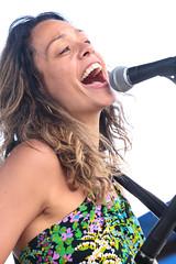 Aline Morales (peterkelly) Tags: digital hillside hillsidefestival 2017 guelph ontario canada northamerica guelphlakeconservationarea festival music concert alinemorales newcanadianglobalmusicorchestra mike mic microphone singer singing drummer drumming smile smiling