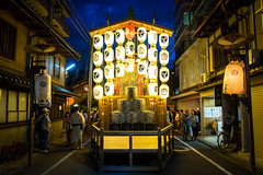 The season is coming #6 (Kyoto) (Marser) Tags: xt10 fuji raw lightroom japan kyoto gionfestival lantern nightview festival night street 京都 祇園祭 太子山