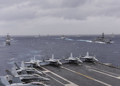 Indian, Japanese, U.S. Warships Build Maritime Interoperability in the Indian Ocean (#PACOM) Tags: ussnimitz cvn68 deployment bayofbengal