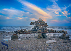 Cool Cairn by the water (Singing With Light) Tags: 17th 2017 alpha6500 ct milford mirrorless nycny silversandsstatepark silversands singingwithlight sunsetjune a6500 boardwalk july photography singingwithlightphotography walnutbeach