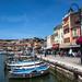 Cassis harbour front.