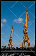 Dockyards of Cádiz (__Viledevil__) Tags: cadiz blue building activity color image commercial dock construction crane development equipment harbor industry metal sea ship shipbuilder shipping shipyard sky vibrant water yellow cádiz españa