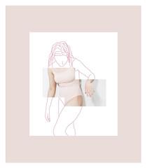 Limits 4 (MitikaFe) Tags: body draw visualart art pink colors pastel graphic photography
