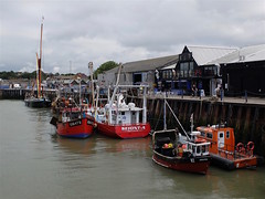 Dark clouds over Whitstable Harbour, at the end of the Crab and Winkle Way - archiving. (favmark1) Tags: 2017 365 day180 365challenge whitstable whitstableharbour walk