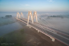 DJI_0039 (TomaszMazon) Tags: bridge krakow vistula river poland pylon mist fog sunrise