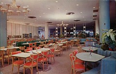 "Newberry's ""Columbia Room"", Lloyd Center, Portland, Oregon (SwellMap) Tags: postcard vintage retro pc chrome 50s 60s sixties fifties roadside midcentury populuxe atomicage nostalgia americana advertising coldwar suburbia consumer babyboomer kitsch spaceage design style googie architecture restaurant diner cafe"